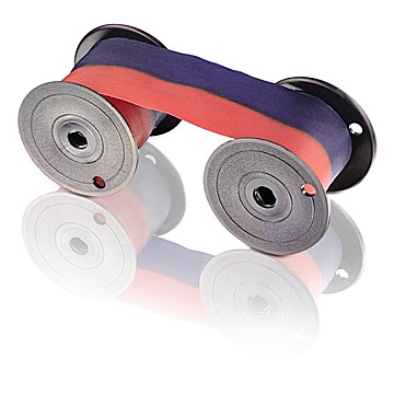 LATHEM 7-2C - RIBBON SPOOL - RED & BLUE
